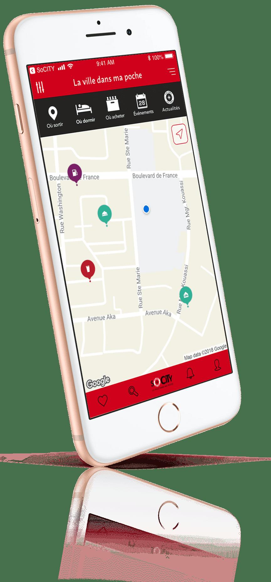 Socity, l'app mobile pour s'amuser et Sortir à Abidjan sur iPhone 6